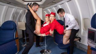 DorcelClub – Horny flight on Dorcel Airline – Alexis Crystal – Misha Cross