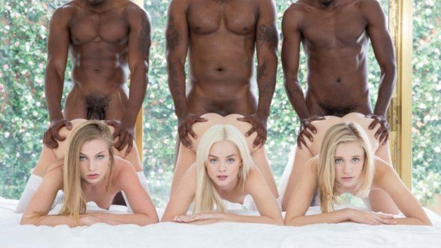 Blacked – Preppy Girl Threesome Get Three BBCs – Elsa Jean – Rachel James – Sydney Cole